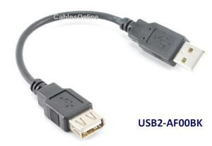 6 inch USB 2 0 A Male to Female Extension Cable Cord