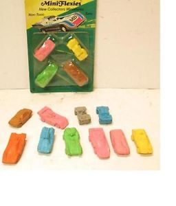 Lot Vintage Lesney Matchbox Mini Flexies Series 2 Novelty Pencil Erasers