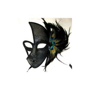 Halloween Costume Masks Peacock Feather Full Face Female Venetian Mask