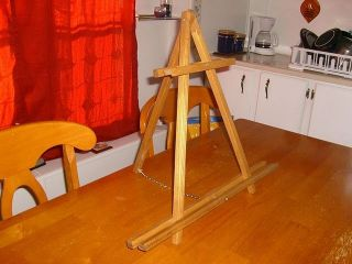 "24"" Portable Golden Oak Stain Art Table Top Easel Artist Easel Display New"