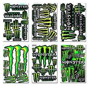 Motorbike Stickers Racing Logo Helmet Decals Kits Extreme Sport Skateboard Bike