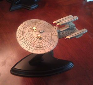 Franklin Mint Star Trek USS Enterprise Triple Nacelle Pewter SHIP