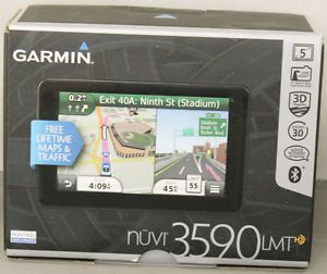 "New Open Box Garmin Nuvi 3590LMT Navigation GPS Unit Big 5"" Screen"