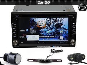 Android 4 0 2 DIN Car DVD GPS Head Unit WiFi Google Play Free Rear View Camera