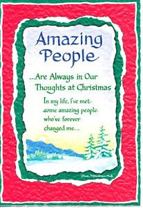 Blue Mountain Arts Greeting Card Christmas Amazing People