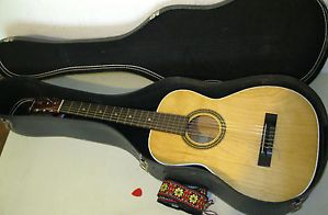 Vintage Harmony Acoustic Guitar with Strap Case Nice