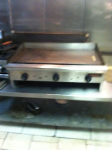 Tri Star Commercial Gas Grill Griddles Table Top Range 36 Inch