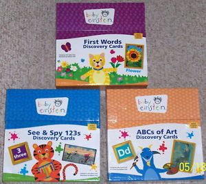 Baby Einstein First Words 123s ABCs Huge Discovery Flash Cards New Boxes