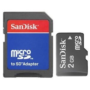 SanDisk 2 GB SD Flash Memory Card