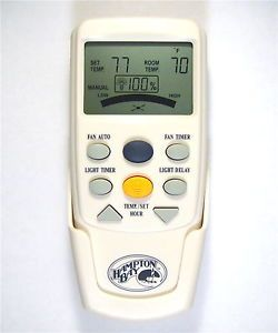 Hampton Bay Harbor Breeze Fan LCD Remote Control Fan 9T