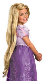 Disney Tangled Girls Rapunzel Long Blonde Halloween Costume Wig