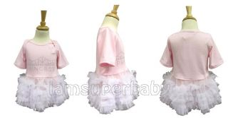 Sweet Baby Girl Pink Princess Bling Rhinestone Party Frilly Tutu Dress 9 27Month