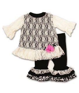 New Baby Girls Boutique Peaches N Cream 12M Lace Outfit Christmas Dress Clothes