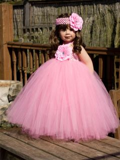 Baby Toddler Tutu Dress Skirt Full Poofy Flower Girl Fairy Age Newborn 1 2 3 4 5