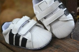White Infant Toddler Baby Boy Crib Shoes 0 18 Months