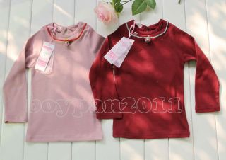 New Kids Toddlers Girls Long Sleeve Shirts Tops 2 Colour Choose SZ1 7Years