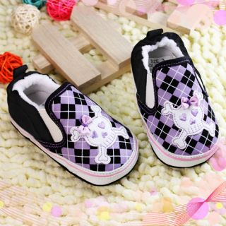 Cute Skull Baby Infant Toddler Walking Shoes Size 3 New