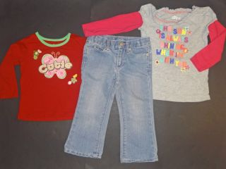 11 PC Baby Girl Clothes Fall Winter Lot 2T 3T Excellent Used