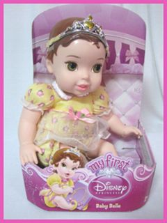 New Disney My First Princess Belle Baby Doll 9 1 2""