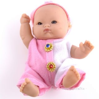 Precious Lifelike Polyethylene Reborn Lifelike Baby Doll with Pink Clothes T8610
