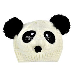 New Cute Baby Kids Girls Boys Stretchy Warm Winter Panda Cap Hat Beanie C99D
