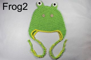 Cute Animal Crochet Knit Earflap Hat Baby Child Girl Boy Gift Giraffe Frog Hippo