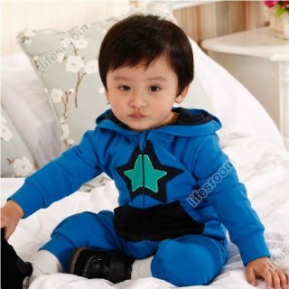 Baby Kid Toddler Infant Boy Star Onesie Bodysuit Romper Jumpsuit Coverall Outfit