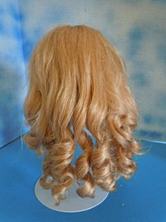 Gorgeous Vintage Human Hair Blonde Doll Wig Size 16 17 Long Curls