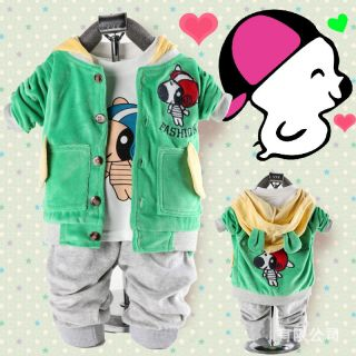 Cute Baby Girl Boy Unisex Winter Outfits Set Coat Hoody Pants Outerwear Clothes
