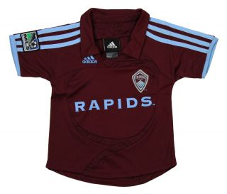 Adidas Colorado Rapids MLS Soccer Toddlers Home Replica Jersey Polo Top Shirt