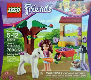 Lego Friends 41003 Olivia's Newborn Foal Olivia Foal Horse Tree Wheelbarrow