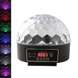 Digital RGB LED Crystal Magic Ball Effect Light DMX Disco DJ Stage Lighting 20W