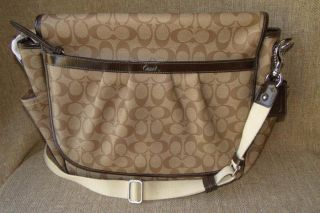 Coach PVC Signature Baby Messenger Bag 18373 Change Pad