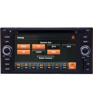 Car GPS Navigation Radio TV DVD Player for Toyota 4Runner FJ Cruiser Fortuner