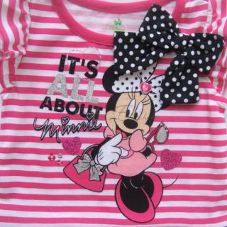 Baby Toddler Summer Outfits Girl Stripe Minnie Mouse Top Leggings 12 24 Months