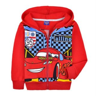 Cars Lightning McQueen Kids Boys Girls Zipper Hoodies Clothing Aged 2 8years