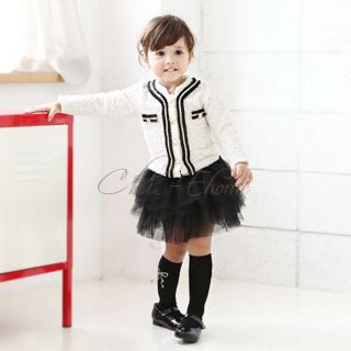 Girls Baby Toddler Top Coat Tutu Skirt Dress 2pcs Outfit Autumn Clothes 2T 6