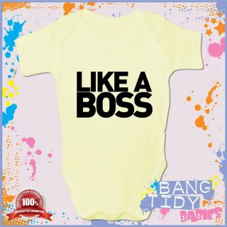 Funny Baby Grow Like A Boss Boy Girl Babies Clothing