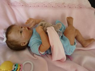Very Happy Reborn Baby Girl Doll Jette by Elly Knoops RARE So Full of Life