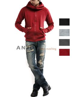 Mens Slim Fit Long Sleeve Casual Hoodie Zip Up Hooded Sweater Shirt Jacket