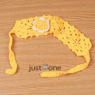 Cute Baby Toddlers Kids Girls Crochet Flower Hairband Hair Decoration Headband