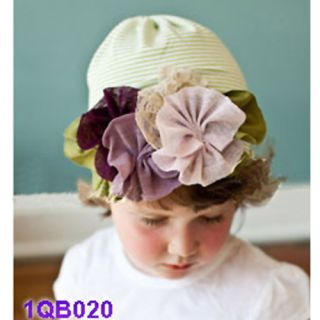 Fashion Baby Kid Newborn Infant Toddler Lace Flower Cap Hat Beanie Soft Cotton