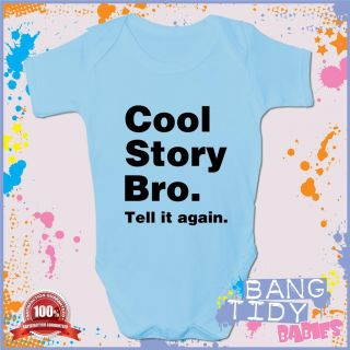 Cool Story Bro Funny Baby Grow Boy Girl Babies Clothing Cool Fun Gift
