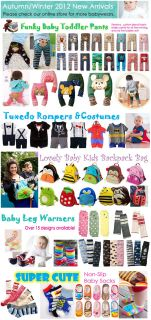 Leg Warmers Leggings Arm Warmers Baby Boy Girl Toddler Pants 12 Designs Avail