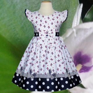 White Pink Bow Birthday Party Baby Toddler Clothing Girls Dresses Size 1 5 Y