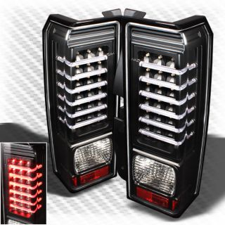 2006 2009 Hummer H3 LED Black Tail Lights Lamp Pair Brand New Taillights Set