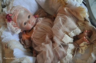 Sunset French Lace Dress Hat 4 Reborn Baby Doll