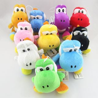 10 x Super Mario Bros Brothers Nintendo New Soft Stuffed Yoshi Plush Doll Toy 7""