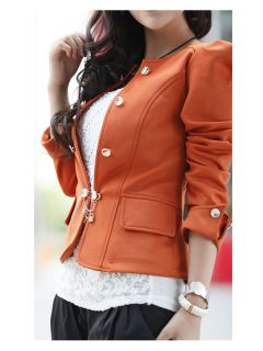 New Fashion Women Slim Fit Business Puff Sleeves Suit Blazer Jacket Coat