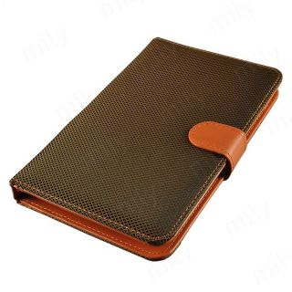 Nice Brown Micro USB Keyboard Case with Stylus Pen for 7 inch Tablet PC